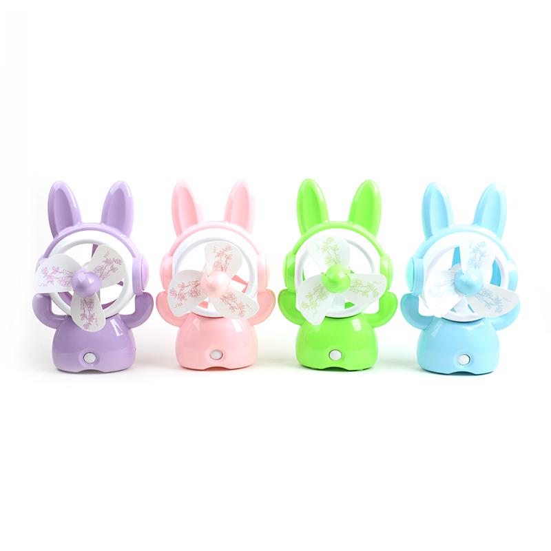 HJ-5011兔子卡通USB充电风扇